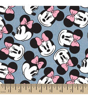 Disney® Minnie Head Toss Chambray Fabric, , hi-res