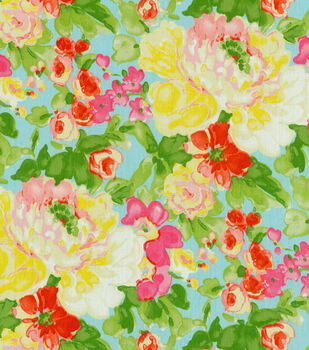 Home Dec Print Fabric-Waverly Blossom Boutique Aurora