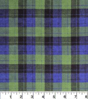 Snuggle Flannel Fabric-Skylar Blue Green Plaid