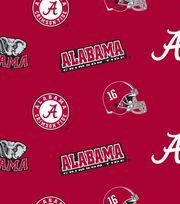 University of Alabama NCAA All-over Fleece Fabric, , hi-res