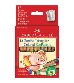 Short Jumbo Triangular Colored EcoPencils 12/Pkg