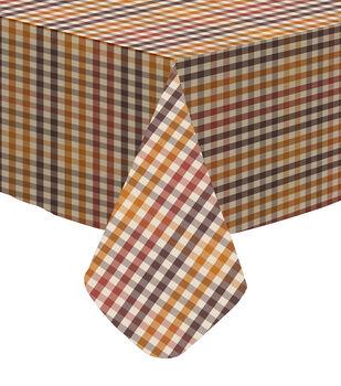 Art of Autumn 52''x90'' PEVA Tablecloth-Plaid