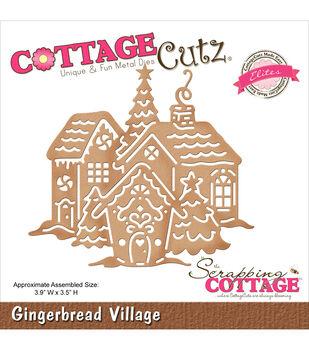 CottageCutz Elites Die-Gingerbread Village
