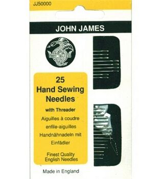 Hand Needle Assortment With Threader-25/Package