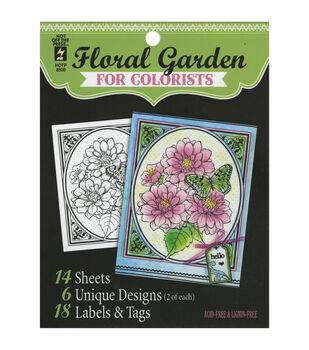 Adult Coloring Book-Hot Off The Press Floral Garden