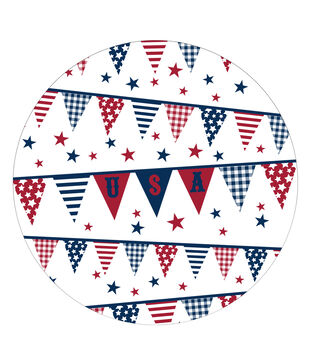 Sea to Shining Sea 8ct Paper Dinner Plates-Pennants