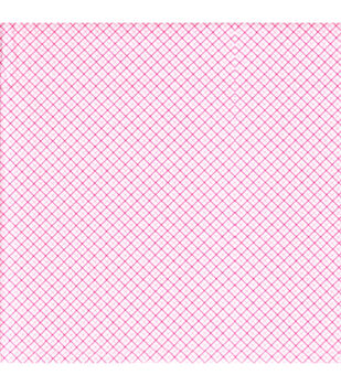Snuggle Flannel Fabric-Diagonal Plaid Pink