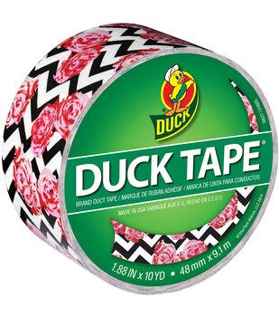 "ShurTech Brands™ Patterned Duck Tape 1.88""x10yds-Flower Chevron"