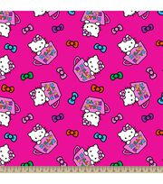 Sanrio Hello Kitty Tea Cups Fleece Fabric, , hi-res