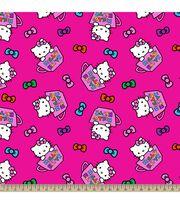 Sanrio Hello Kitty Tea Cups Fleece Fabric, , hi-res