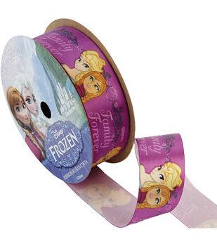 """Frozen Ribbon 7/8""""x9'-Family Forever"""