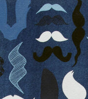 Alexander Henry Cotton Fabric-A Must Stache Denim, , hi-res