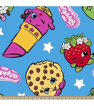 Shopkins Fleece Fabric-Buddies