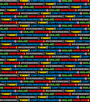 Marvel's The Avengers Name Stripe Flannel Fabric, , hi-res