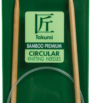 "Takumi Bamboo Circular Knitting Needles 24""-Size 4/3.5mm"