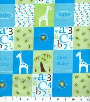 Snuggle Flannel Fabric-Little Buddy Blue