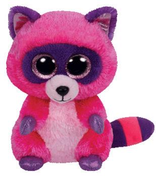 TY Beanie Boo Roxie Pinkpurple Raccoon