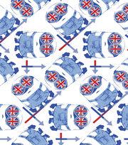 Minions British Google Cotton Fabric-White, , hi-res