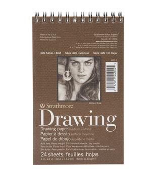 "Strathmore Drawing Medium Paper Pad 4""X6""-24 Sheets"