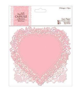 "Papermania Wild Rose Die-Cut Lace Paper 5.5"" 12/Pkg-"