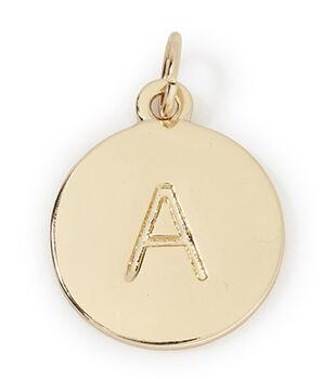 Hey Doll DIY Engraved Monogram Charm-Gold Round