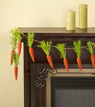 Easter 66'' Carrot Garland-Orange