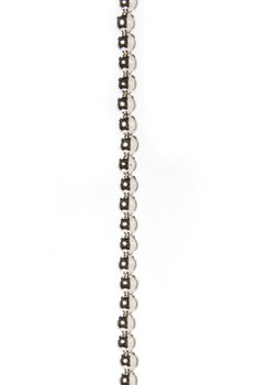 8mm Silver Metallic Pearl Strand, 60 inches long