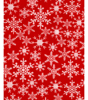 Noel Collection-Christmas Snowflakes Red