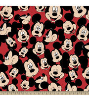 Disney® Mickey Head Toss Fleece Fabric, , hi-res