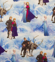 Disney Frozen Character Scenic Sweatshirt Fleece Fabric, , hi-res