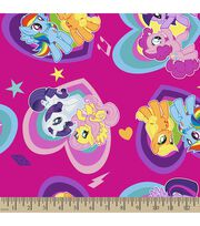 Hasbro® My Little Pony® Print Fabric-Pony Hearts, , hi-res