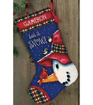 "Snowman Perch Needlepoint Kit-13""x20"" Stitched In Wool&Thread"