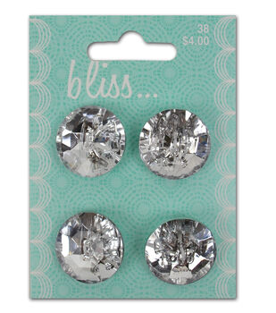 Bliss Faux Crystal Multi Button Card