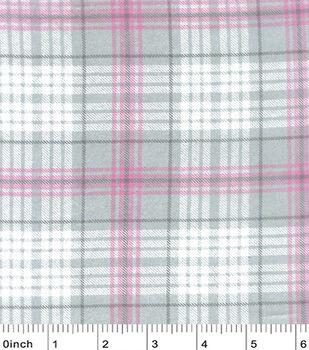 Nursery Flannel Fabric-Madison Sweet Plaid