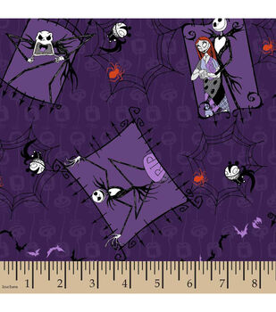 Halloween Cotton Fabric-Nightmare Before Christmas Couple