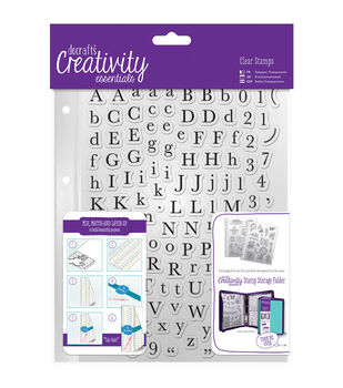 Docrafts Creativity Essentials A5 Clear Stamp Set-Alphas Trad