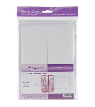 Hunkydory Luxury Silk Art Shaped Cards With Envelopes White Centre-Fold