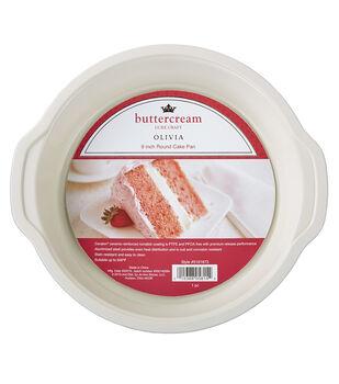 "Buttercream™ Olivia Collection Ceramic Metal 9"" Round Cake Pan"