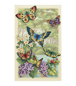 "Dimensions Gold Collection Butterfly Forest Cntd X-Stitch Kit-10""X16"""