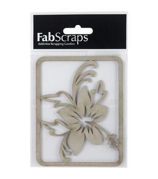 FabScraps Die-Cut Chipboard Embellishments-Hibiscus Flower