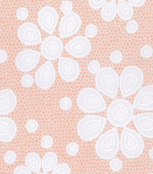 Doodles Collection Fabric - Mesh Flower Pink
