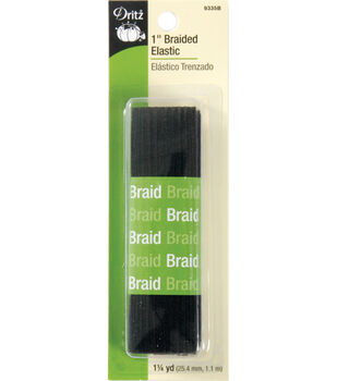 Dritz Braided Elastic 1'' Wide 1 1/4 Yrds Long