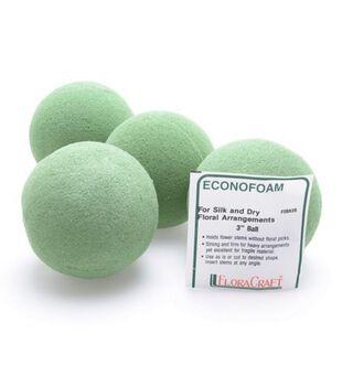 """Floracraft 3"""" Desert Foam Balls-6PK/Green"""