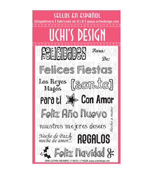 Uchi's Design Bilingual Holidays Clear Stamp