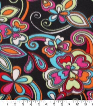 Blizzard Fleece Fabric-Kaleidescope Floral