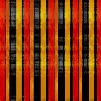 Holiday Inspirations Halloween Fabric- Stripe Red