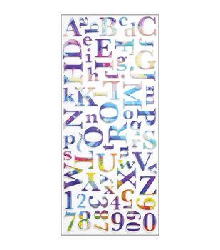 Sticko Alphabet Stickers-Watercolor