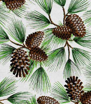 Holiday Inspirations Fabric-Pine With Glitter