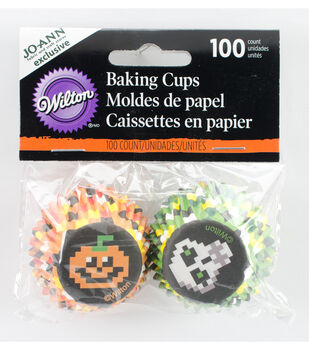 Wilton® Halloween 100ct Mini Baking Cup-Pixelween
