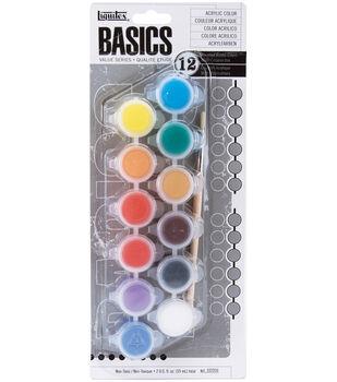 Basics Acrylic Paint Pots-6 Colors